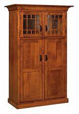 Amish Norway Mission Craftsman Kitchen Pantry Storage Cupboard Roll Shelf Glass