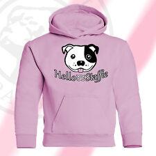 Staffordshire Bull Terrier kinderkapu hoodie PITBULL staffbull HELLO Staffie