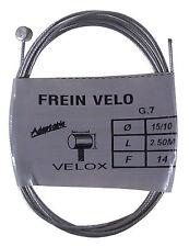 Câble de frein vélo vintage VELOX WEINMANN acier embout 2.5 m 1.5 mm randoneuse