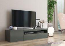 Frozen mobile porta tv 2 ante living antracite lucido moderno design minimalista