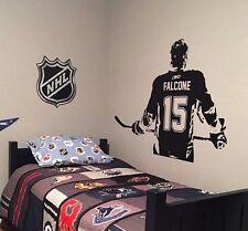 Hockey Player Wall Art Decal vinyl sticker kids bedroom decor Custom Name Jersey