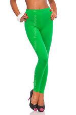 Full Length Green Premium Cotton Leggings Comfortable Stretchy Pants Sizes 8-22