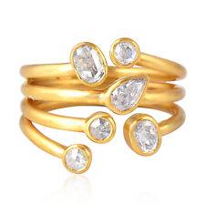 1.01Ct Diamond 18K Solid Gold Designer Ring Women Fashion Handmade Jewelry