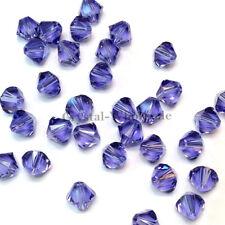 6mm Tanzanite (539) Genuine Swarovski crystal 5328 XILION Loose Bicone Beads