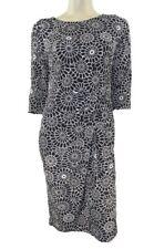 Marks & Spencer Black & Ivory Daisy Print Stretchy Shift Dress Org Price £45