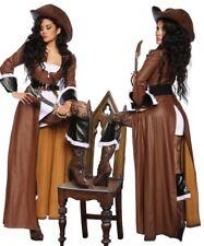 Sexy Damen Piratenkostüm Piratin Kostüm Fasching Karneval Neu Set S M L XL XXL