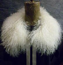 Real Natural Mongolian Tibetan Lamb Detachable  Fur Club Collar  made in the USA