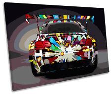 BMW M3 Car Spoiler SINGLE CANVAS WALL ART Framed Print