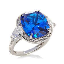 D/VVS1 Created Kashmir Sapphire Ring Sterling Silver