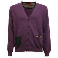 9968U maglione ALTEA cardigan viola lana sweater men