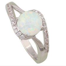 Fashion Schmuck Fingerring Ring für Frauen Weiß Topaz Opal (9)