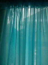 "Turquoise wedding decoration drapes sheer 6 to 12 ft x 112"". backdrop"