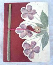 Leaf Design Lokta Paper Journal Books, Natural Blank Diaries