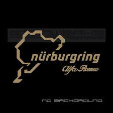 Alfa Romeo Nurburgring Sticker F1 Italy 4c Spider stelvio giulia Pair