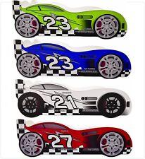 Children Kids Racing Car Bed 160 x 80 cm Toddler Junior Mattress Made in GB