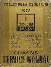 1973 Oldsmobile Repair Shop Manual 442 Supreme Cutlass 88 98 Toronado 73 Olds