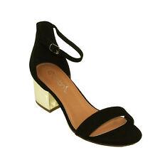 Betani Women's Irene-1 Ankle Strap Block Mid Heel Sandals