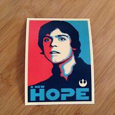 A New Hope Luke Skywalker sticker decal Star Wars poster style Obama rebellion