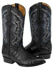 Mens Smooth Genuine Crocodile Belly Skin Leather Cowboy Boots Western J Toe
