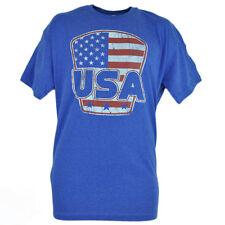USA Stati Uniti D'America Blu Sdrucito Tshirt Gadget Maglietta Fifth Sun
