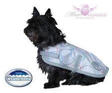 WeatherBeeta Hundemantel BUBBLES Hunde Jacke wasserdicht hell grau Punkte Kreise