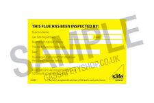 Gas Safe Flue Inspection Labels