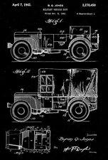 1942 - Military Vehicle Jeep - World War II - B. Q. Jones - Patent Art Poster