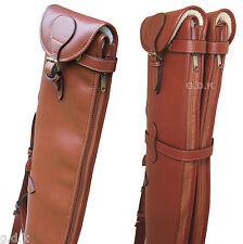 Tanned double leather shotgun slip, detachable, guardian leather shotgun case,