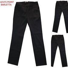 Pantaloni donna kartika elegante nero elasticizzato gamba dritta taglia 42 44 46