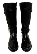 New Women's Passions Low Fashion Rain Boots Zipper Rhinestones Seattle Black
