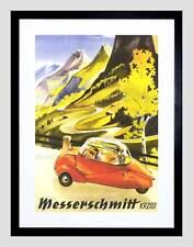 AD CAR AUTOMOBILE MESSERSCHMITT KR200 BUBBLE GERMANY FRAMED ART PRINT B12X5565