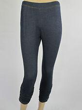 Ladies Denim 3/4 Stretch Jeggings Leggings sizes 8 Colour Denim