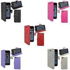 FUNDAS VARIOS COLORES CON BRILLOS Y TAPA PARA APPLE IPHONE 5 / 5S