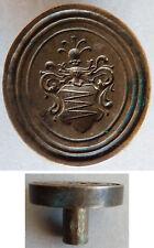 Sceau cachet tampon seal en bronze 19e siècle Armoiries