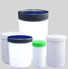 Kunststoffdosen, Salbendosen, Salbenkrunken weiß mit Schraubdeckel gebraucht