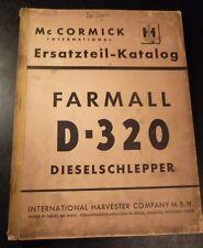 Mc Cormick Farmail D 320 Schlepper Ersatzteilliste