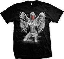 Marilyn Angel Wings Guns Swag Bandana Tattoos Thug Thong Mens T-shirt