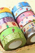 Classiky dibujos animados Washi Cinta Set 2pc Lindo Deco planificador diario Craft cintas de Enmascarar
