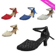 Professional Ballroom Latin Tango Dance Shoes Heeled Salsa For Women Dancing