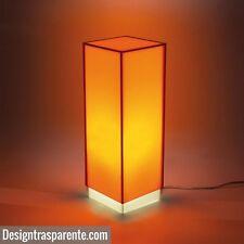 Lampada  da tavolo, scrivania. comodino arancione in plexiglass