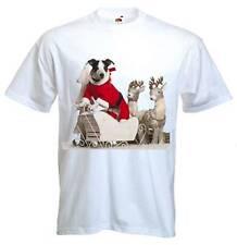 JACK RUSSELL TERRIER perro de Santa Claus Camiseta-Padre Regalo de Navidad Presente