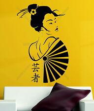 MANGA Geisha Oriental Girl Japan ANIME Japanese Decor Vinyl Wall Sticker Decal