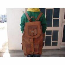 Men's Vintage Genuine Leather Laptop Backpack Rucksack Messenger Bag Satchel