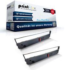 2x Premium Schriftbänder für OKI 09002311/ML 393 Doppelpack XL- Easy Print Serie