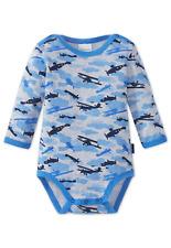 SCHIESSER Baby Body Langarm FLUGZEUG 74 80 86 92 98 104 Bodies WOLKEN