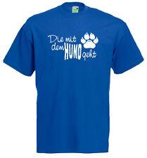Die mit dem Hund geht, Hunde-Shirt, Gassi gehen, Frauchen, Spruch         10-885