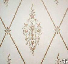 14sr Gold+Cream Museum Quality Neoclassical c1780 Repro Wallpaper Birds Floral