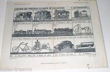 Gravure : Les Transports - Planche 1 - Documentation Scolaire par l'Image 1934
