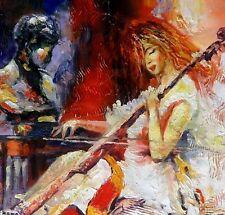 Moderno ASTRATTO Cello musicista non una stampa poster.hand dipinto arte, telaio DISP.
