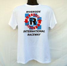 NEW RIVERSIDE INTERNATIONAL RACEWAY LOGO T SHIRT CALIFORNIA SCCA INDY NASCAR F1